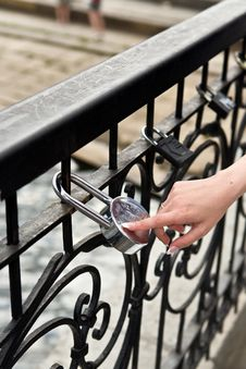 The Lock Of Happiness Royalty Free Stock Image