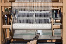 Antique Weaving Machine Royalty Free Stock Photography