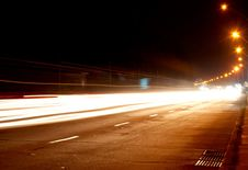 Free Car Lights On Highway Stock Photos - 5573283