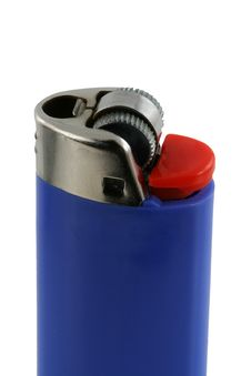Free Isolated Blue Cigarette Lighter Royalty Free Stock Image - 5573746
