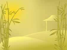 Free Vector Eastern Landscape With Bamboo Stock Photo - 5573850