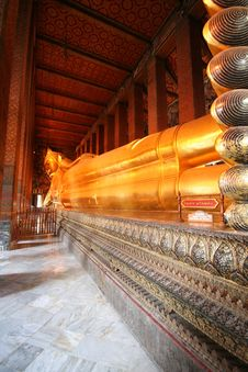 Free Wat Pho Reclining Buddha Stock Photos - 5573933