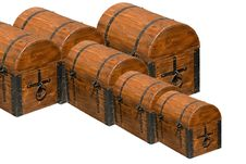 Free Old Brown Wooden Chests Stock Photography - 5574162