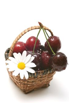 Free Cherry In A Basket Royalty Free Stock Photo - 5574485