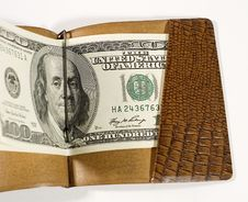 Free Dollars In A Leather Billfold Royalty Free Stock Photos - 5574758