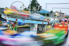 Free Motion Car In Amusement Park Royalty Free Stock Images - 5574839