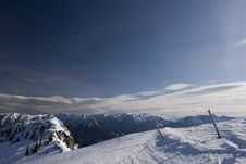 Mountains Range In Winter Royalty Free Stock Images