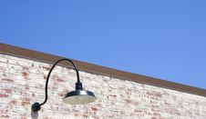 Free Old Lamp On Old Brick Wall Stock Image - 5575301