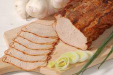 Delicious Ham In Slices Royalty Free Stock Photos