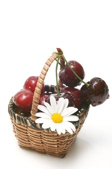 Free Cherry In A Basket Stock Photo - 5576180