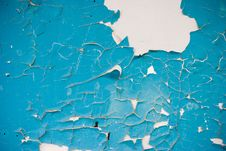 Free Blue Peeling Paint Royalty Free Stock Image - 5576316