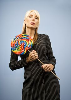 Free Woman With A Lollipop Royalty Free Stock Photos - 5576658