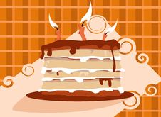 Free Yammie Birthday Cake Royalty Free Stock Image - 5576796