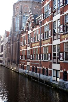 Free Amsterdam Canal And Building Stock Photography - 5576932