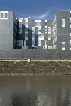 Free New Building At An Old Habour Stock Photo - 5576950