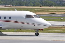 Front Of Large Private Jet Royalty Free Stock Photography