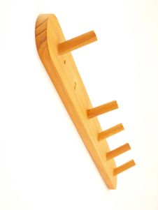 Free Missing Protrusion Birch Wood Clothes Rack Stock Image - 5578071