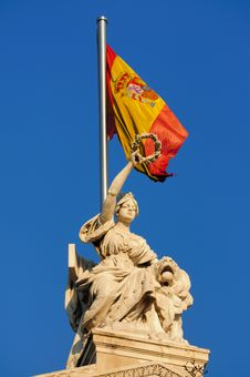 Free Spain S Victory - National Library Monument Royalty Free Stock Photos - 5578478