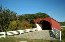 Free Hogback Covered Bridge In Madison County 2 Royalty Free Stock Images - 5579439