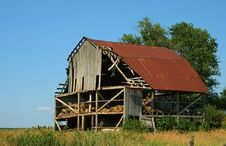 Free Old Broken Down Hay Barn Stock Image - 5579511