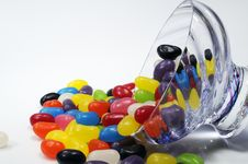 Free Spilt Bowl Of Jelly Beans Royalty Free Stock Photography - 5579747