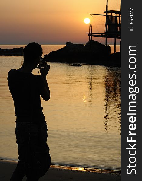 Trabocco into the sunset