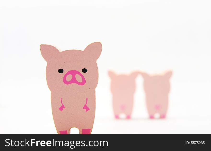 Wooded pigs