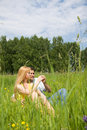 Free Attractive Couple Enjoying Togetherness On Meadow Stock Images - 5584354