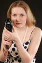 Free Girl Holding A Vintage Movie Camera Stock Photos - 5587793