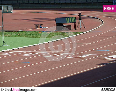 Free Athletic Track Royalty Free Stock Image - 5588006