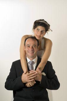 Free Wife Hugs Husband S Back - Vertical Stock Photos - 5580053