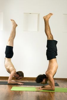 Free Handstand On Elbows - Vertical Stock Photography - 5580062