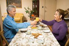 Couple Toasting - Horizontal Royalty Free Stock Images