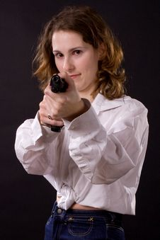 Free Woman With Gun Royalty Free Stock Images - 5582069