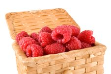 Free Bast-basket With A Raspberry Stock Photography - 5582322