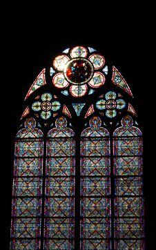 Free Stained-glass Window. Notre Dame Stock Photography - 5582542