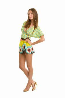 Free Fashion Portrait Of A Beautiful Girl Stock Image - 5583501