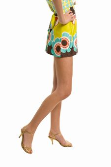 Free Beautiful Legs On High Heels Isolated On A White Royalty Free Stock Photos - 5583528