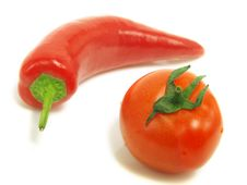Free Fresh Pepper And Tomato Royalty Free Stock Photo - 5583825