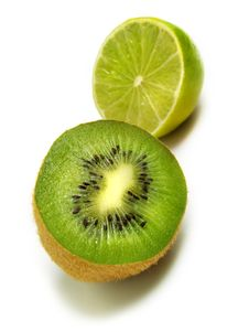Free Half Kiwi And Lime Stock Image - 5583831
