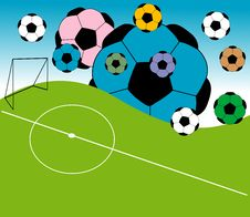 Free Abstract Football Field Royalty Free Stock Photography - 5584327
