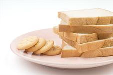 Free Toast And Cookies Stock Photography - 5584432
