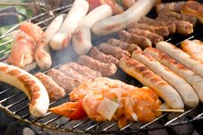 Fresh Barbecue With Mixed Meat Royalty Free Stock Photo
