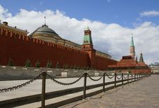Moscow Kremlin Wall And Towers Royalty Free Stock Images