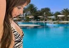 Free Sexy Woman In Bikini. Tropical Royalty Free Stock Images - 5584829