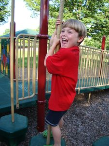 Boy At Playground Stock Images
