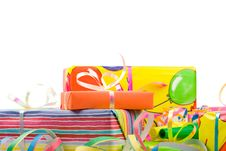 Free Colored Gift Boxes Stock Images - 5586204