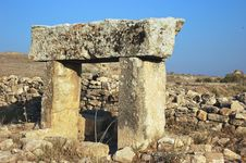 Hierapolis Ancient Ruins Stock Photos