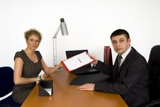 Free Businesswoman Signing The Contract. Stock Image - 5587451
