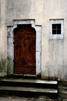 Old Door And Window Stock Image